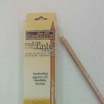 Pastel Chalk Pencil White