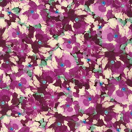 Painterly Petals Plum SRKD-20264-24 Robert Kaufman