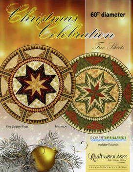 Christmas Celebration tree skirts by Quiltworx
