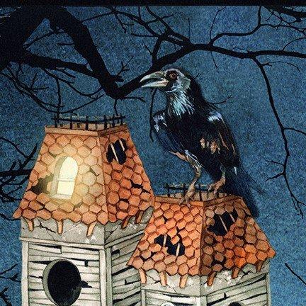 Raven Moon Spooky Panel Robert Kaufman AWHD-18483-282