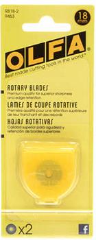 Olfa Rotary Blades 18mm Refill 2 Blades