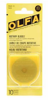 Olfa Rotary Blades 45mm Refill 10 Blades