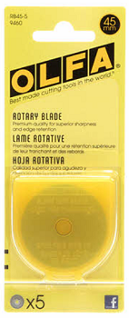 Olfa Rotary Blades 45mm Refill 5 Blades