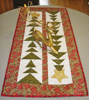 Tall Trees Christmas Table Runner Kit by Cut Loose Press
