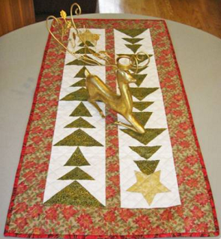 Tall Trees Christmas Table Runner by Cut Loose Press
