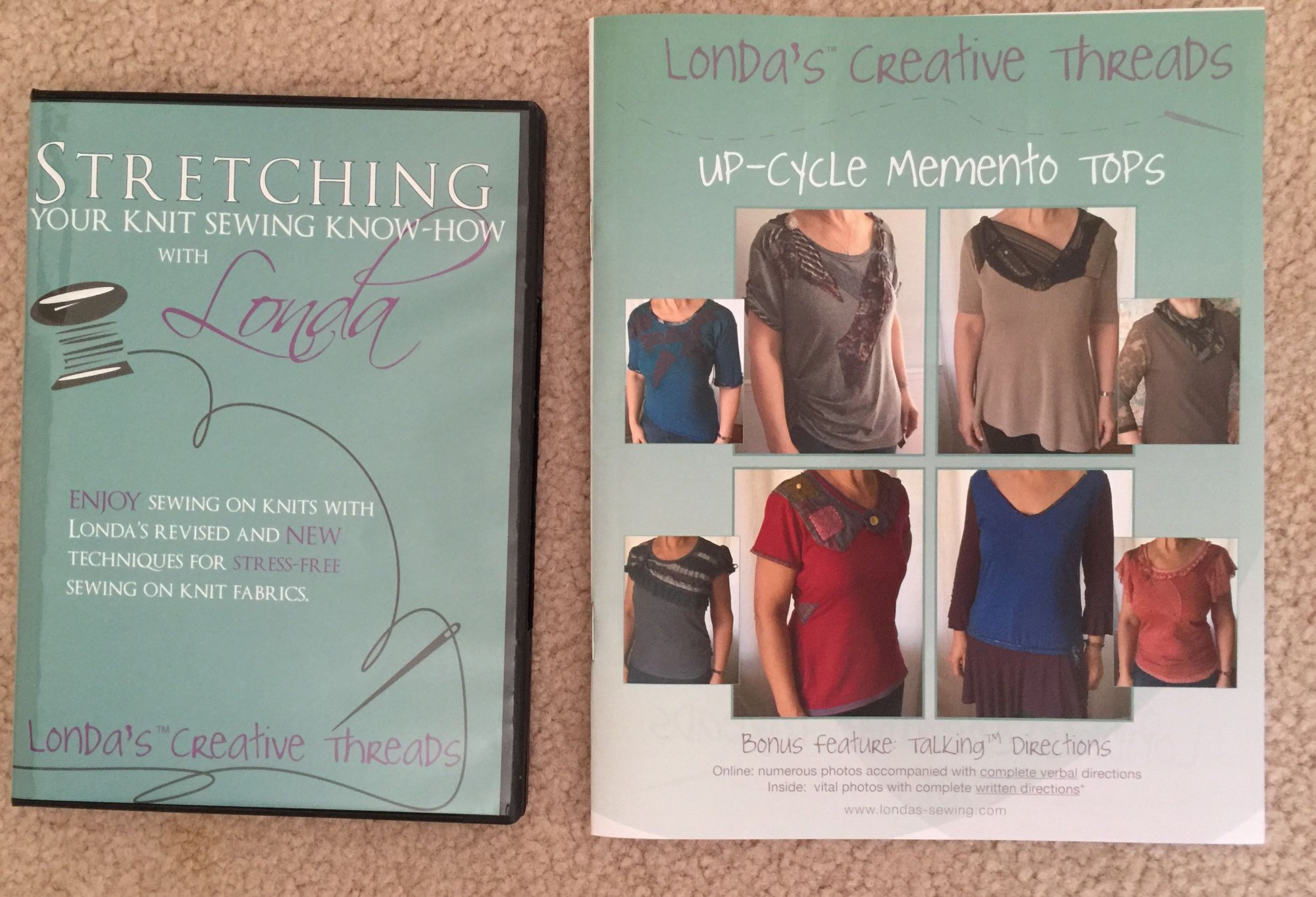 Free Pattern Printed Booklet with Knit DVD Purchase