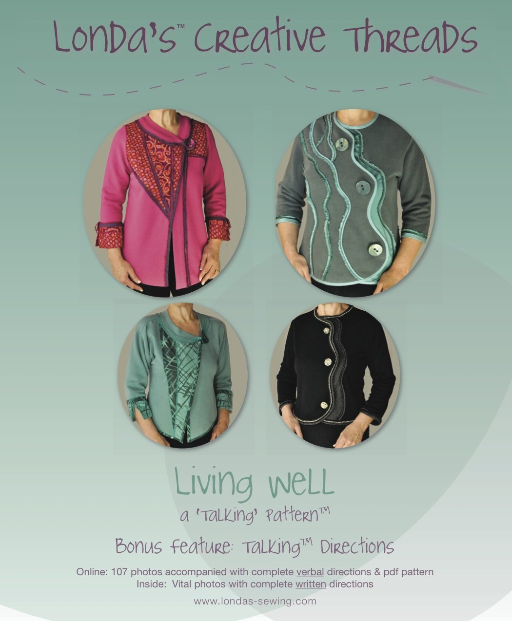 Living Well Pattern Booklet  for Sweatshirt Makeovers - Printed