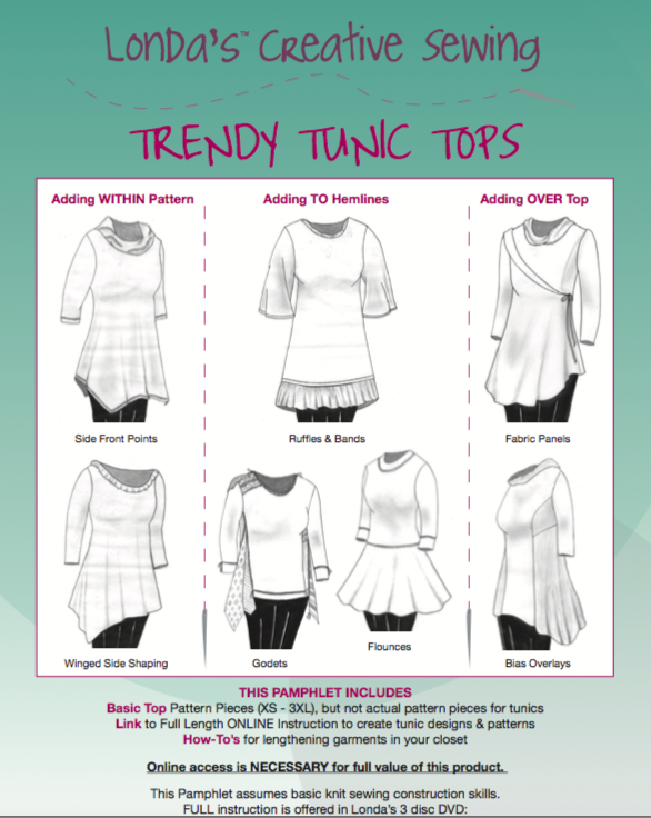 Trendy Tunic Tops-PDF Electronic Delivery