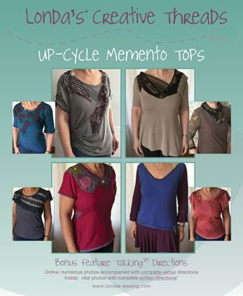 Up-Cycle Memento Tops Sewing Pattern Booklet - PDF Delivery