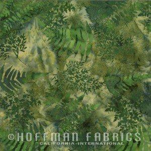 Batik RR Peter - Green Ferns - 10801