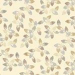 10871 Spangle 108 Leaf Ecru Wide Backing