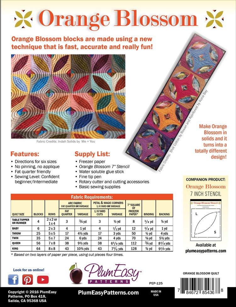 Plum Easy Orange Blossom Quilt Pattern