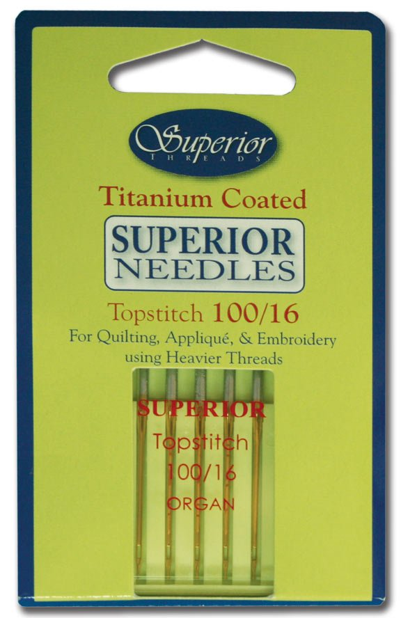 Superior Titanium-Coated Topstitch Needles #100/16