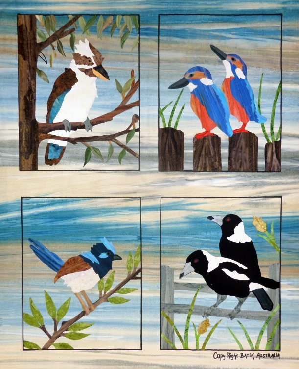 Applique by Numbers kit- Backyard Birds