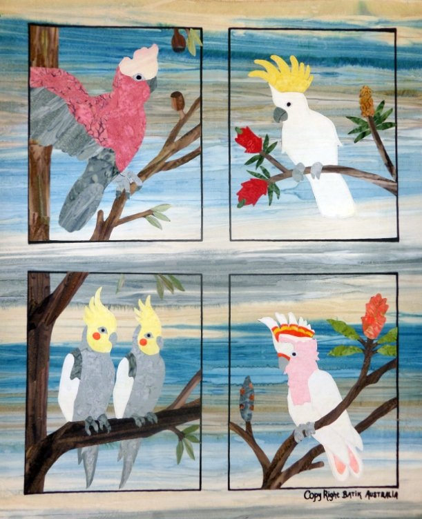 Applique by Numbers kit - Cockatoo