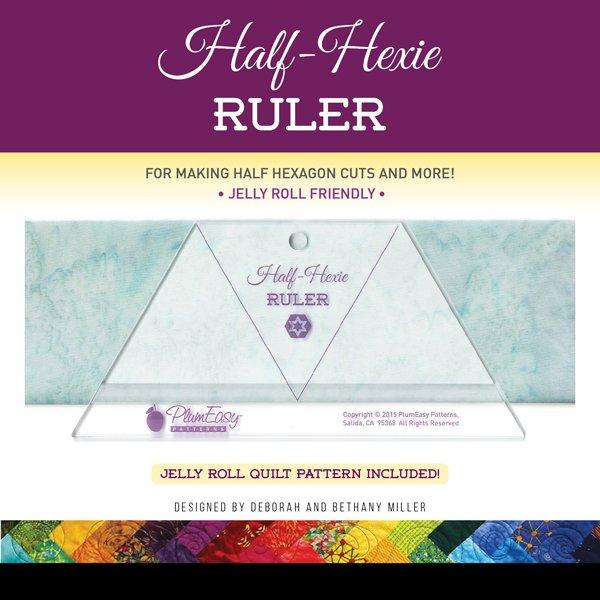 Plum Easy Half-Hexi Ruler