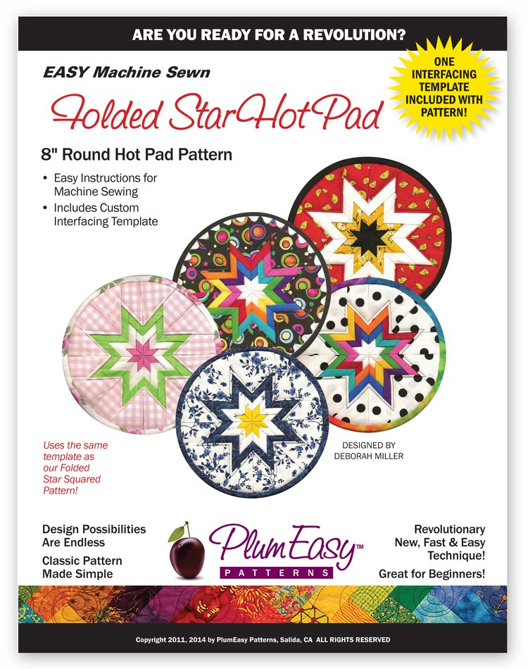 Plum Easy Folded Star Hot Pad Round
