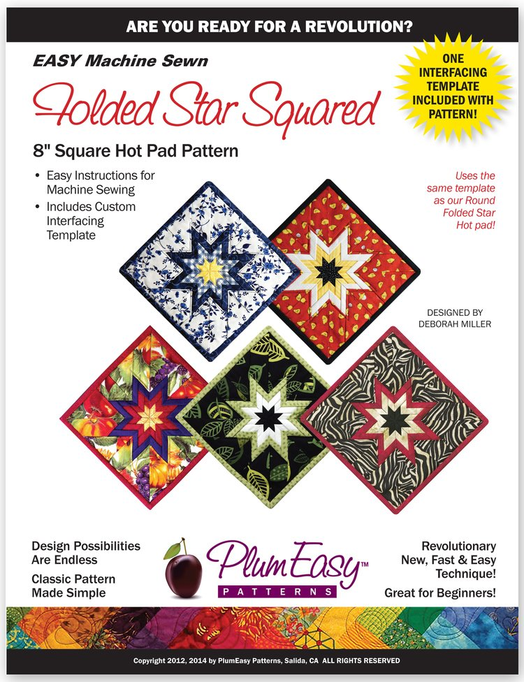 Plum Easy Folded Star Hot Pad Square