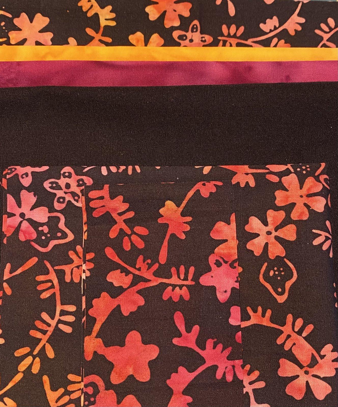 Plum Easy Folded Star Hot Pad kit Sunset