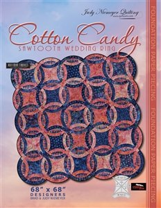 Quiltworx Cotton Candy Sawtooth Wedding Ring pattern