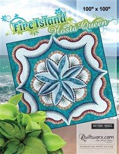 Quiltworx Fire Island Hosta Queen pattern