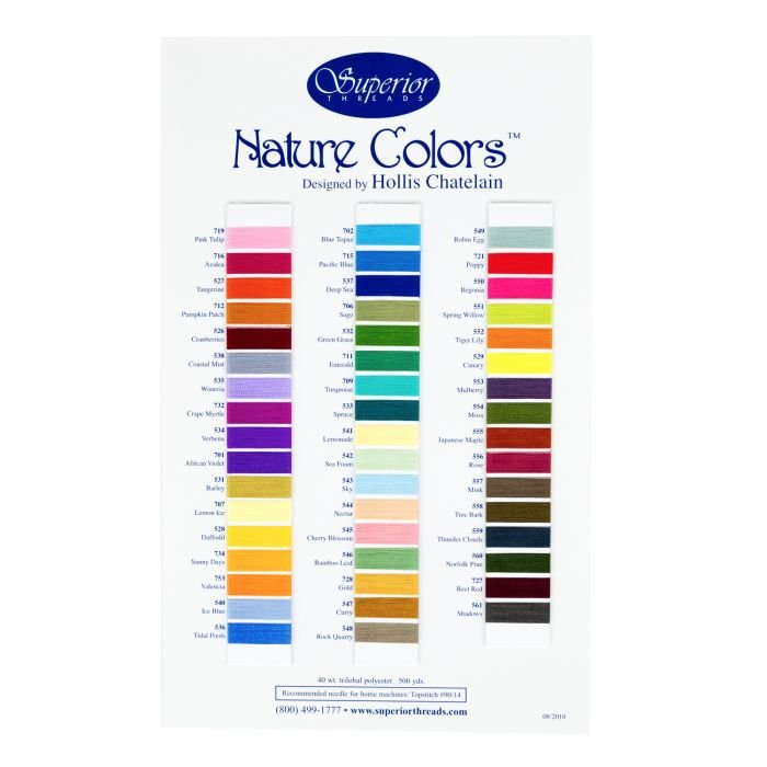 Nature Colours Colour Card