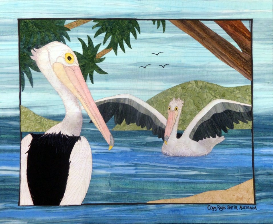 Applique by Numbers kit - Pelican