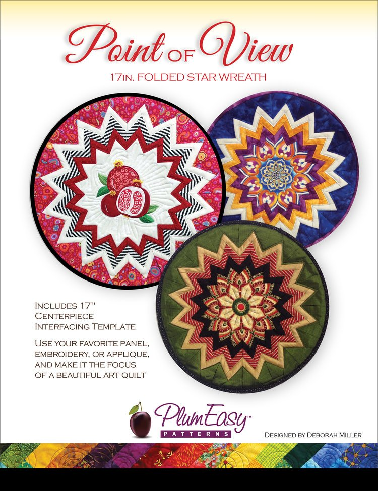 Plum Easy Point of View Folded Star Wreath pattern