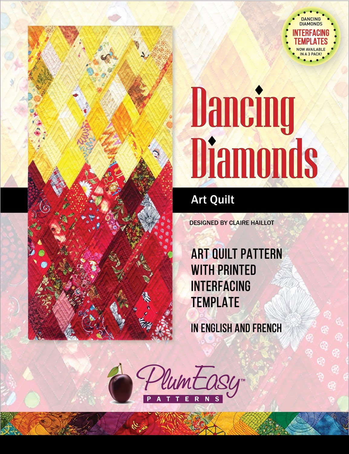 Plum Easy Dancing Diamonds Pattern
