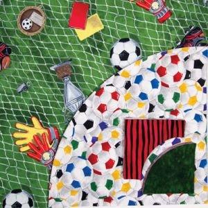 Drunkard's Path pre-cut kit - Soccer