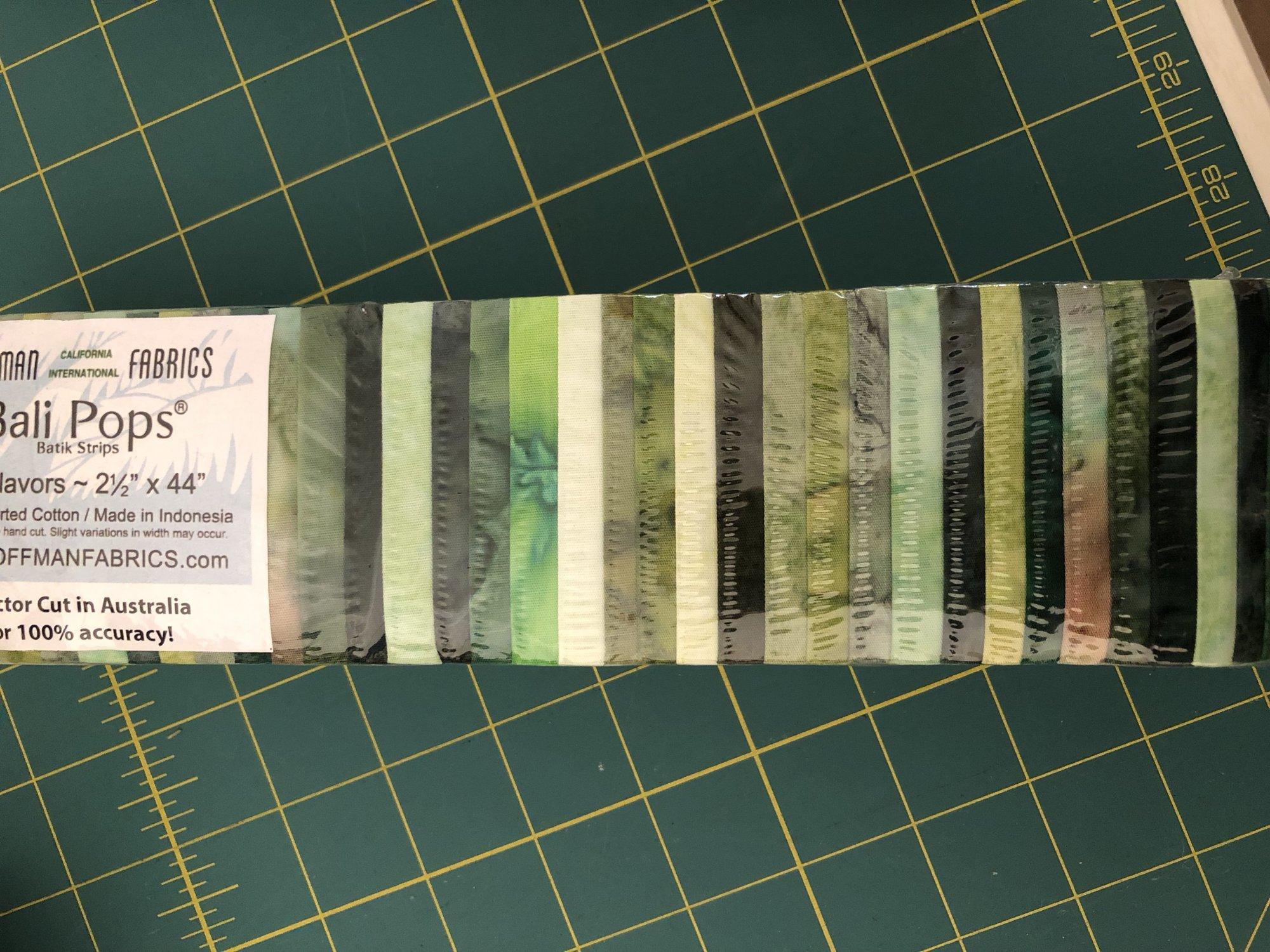 Hoffman Rainbows - Hand dyed greens