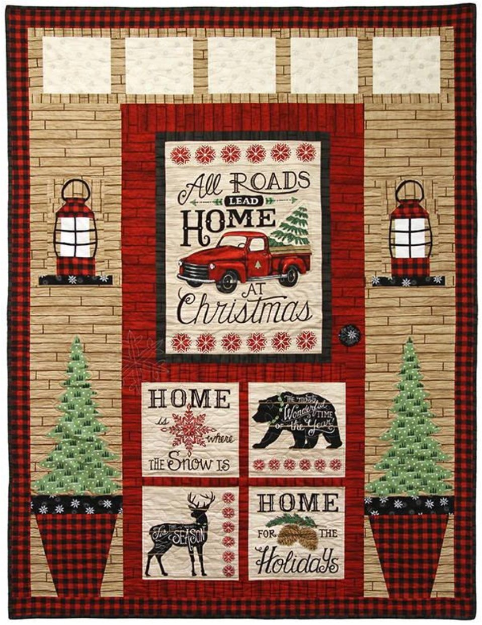 Kit Christmas Door Red/Tan