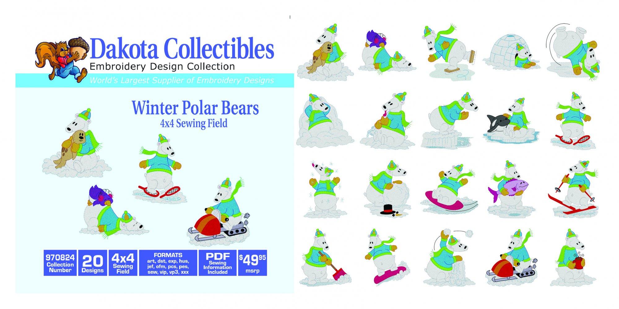 CD DC Winter Polar Bear