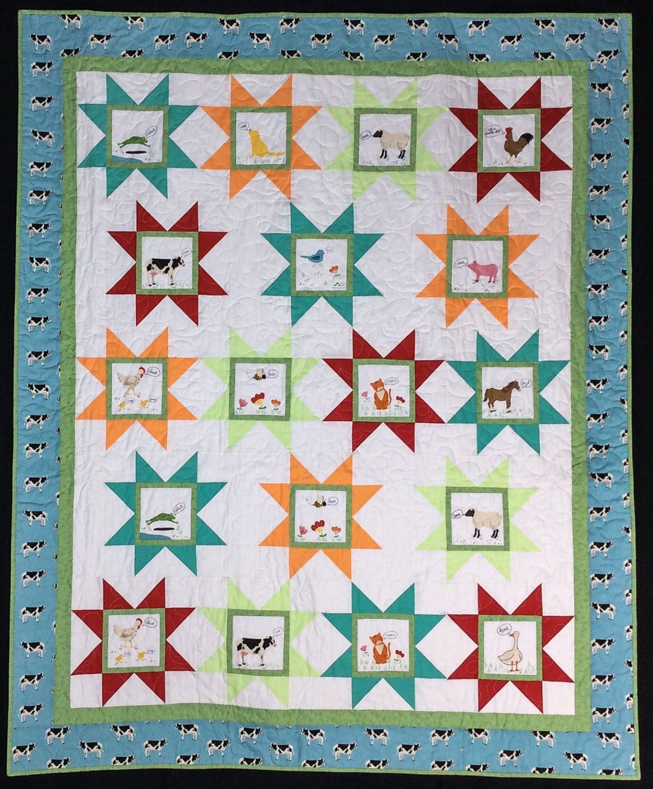 What Do The Animals Say Quilt