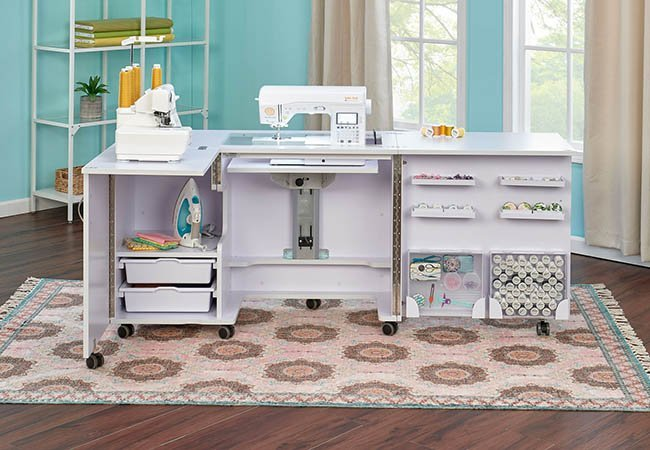 Tailormade Eclipse Sewing Cabinet (White)