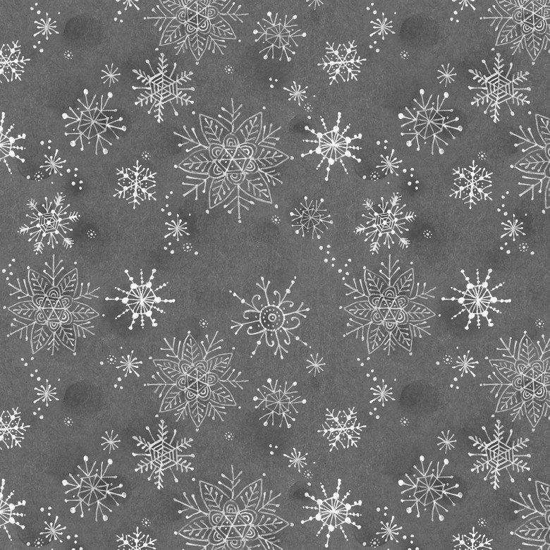 Merry Stitches Snow Flake Grey