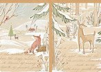winter news a day in the forest panel 1/3 yd