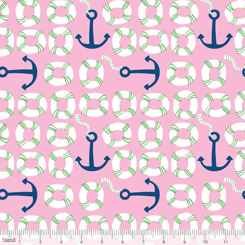 True Blue Anchors Pink