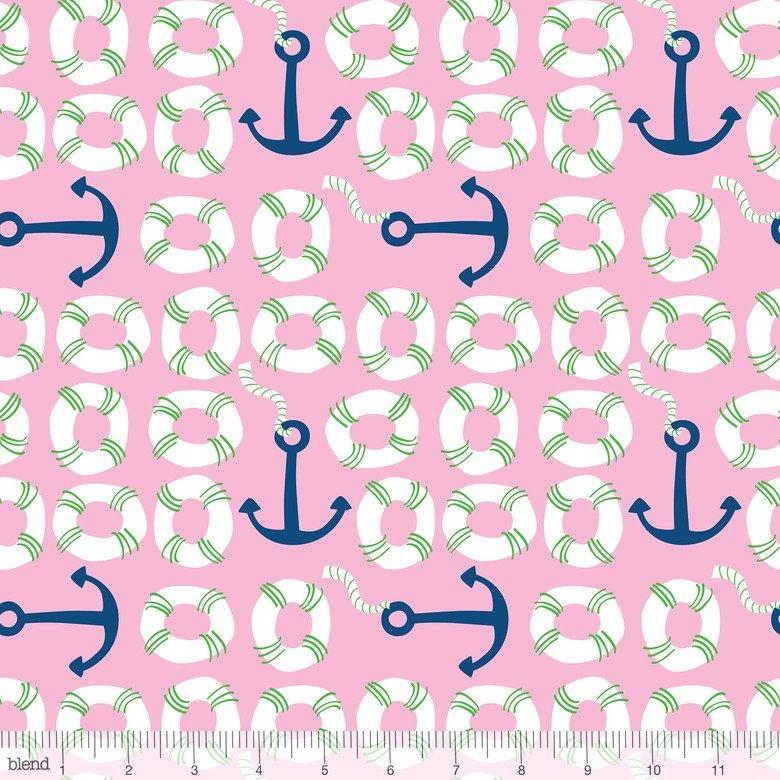 true blue anchors pink