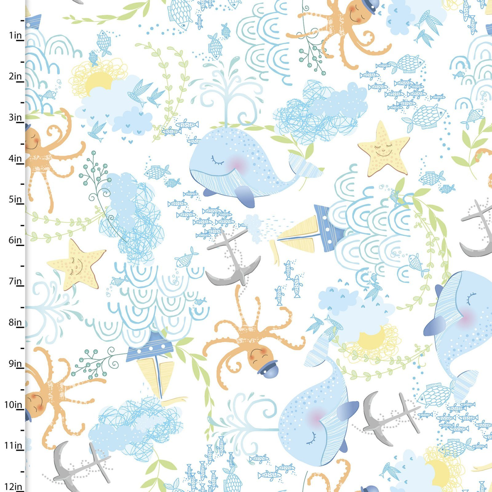 ITTY bittys tossed sea flannel