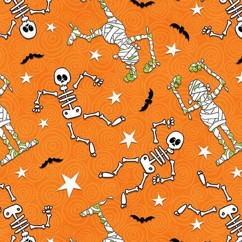 ghostly glow town skeleton/mummy toss orange