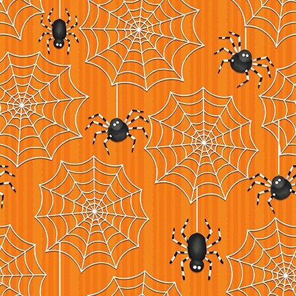 ghostly glow town lg spider and web orange