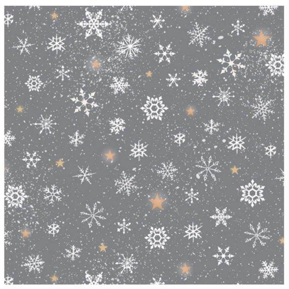 woodland wonder snowflake dk grey