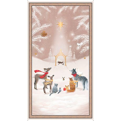 woodland dream nativity panel