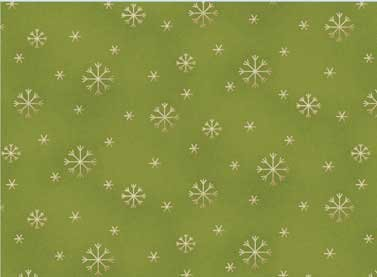 All Things Christmas Snowflakes Green