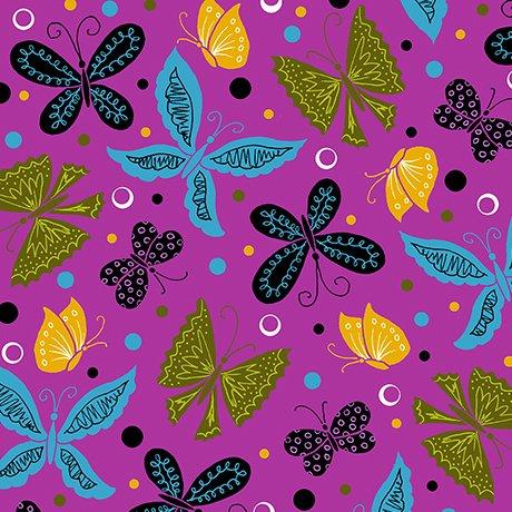 TANGO butterflies fuchsia