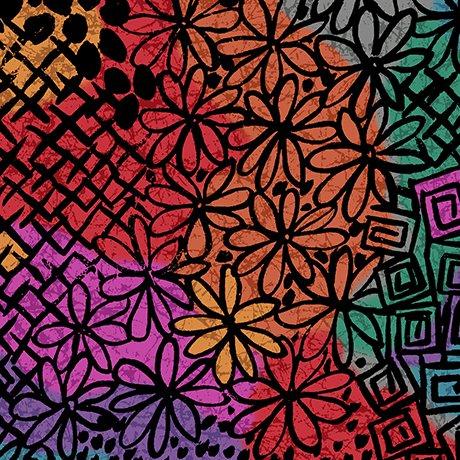 calypso geometric patch multi