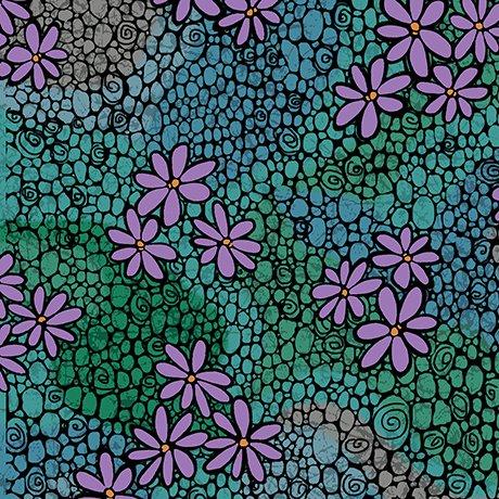 calypso daisy geo blue