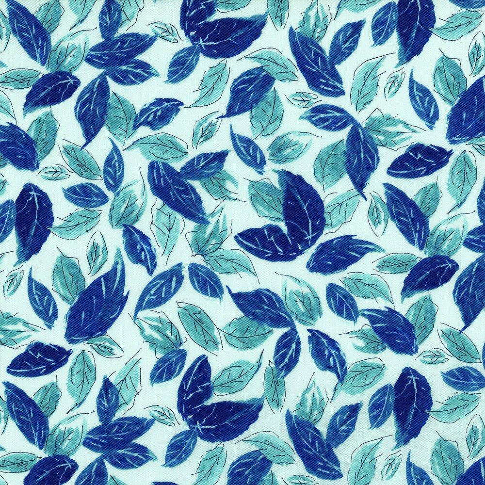 Rose Hutch Leafy Blues Aqua Stone