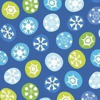 SILLY snowman blue